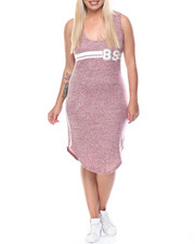 Fashion Lab - Since 89 Classic Jersey Sleeveless Racer Back Midi Dress (Plus)