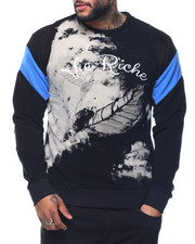 Men - Bleached Lurex Crewneck Sweatshirt
