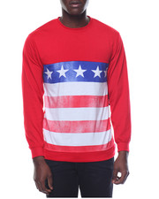 Basic Essentials - Americana Jersey Crewneck Sweatshirt