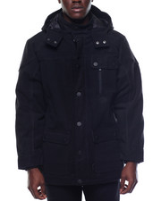 Men - Basic Hooded Wool Parka