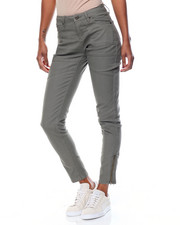 Basic Essentials - Patch Pocket Moto Skinny Twill Jean
