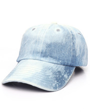 Men - Plain Bleached Strapback Dad Cap