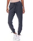 Side Lace-Up Adjustable Waist Pockets Jogger