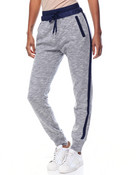 Side Zip Smocked Waist Knit Jogger