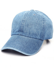 Men - Plain Navy Denim Strapback Dad Cap