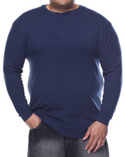 Basic Essentials - Three - Button Thermal Henley (B&T)