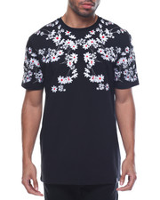 Men - White Flower S/S Tee