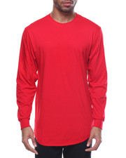 Basic Essentials - Long - Tail Crewneck L/S Tee