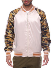Light Jackets - Camo Satin Jacket