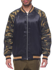 Men - Camo Satin Jacket