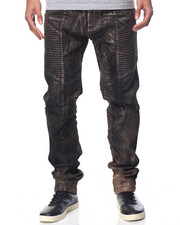 Buyers Picks - Foil - Coated Moto - Style Denim Jeans