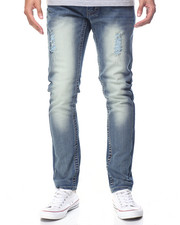 Men - Monarchy Brown - Stitch Flap - Pocket Denim Jeans