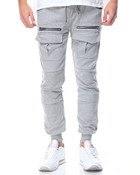 Front - Pocket French Terry Joggers