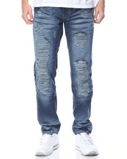 Basic Essentials - Rip - And - Repair Fashion Denim Jeans