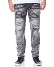 Basic Essentials - Patched Rip - And - Repair Denim Jeans