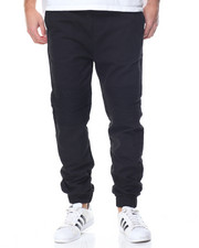 Basic Essentials - Moto - Style Woven Joggers