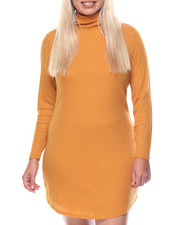 Women - Clyde Shirtail Hem Turtle Neck Dress (plus)