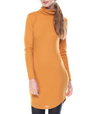 Dresses - Clyde Shirtail Hem Turtle Neck Dress