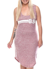 Women - Since 89 Classic Jersey Sleeveless Racer Back Midi Dress (Plus)