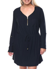 Dresses - Under The Lights Dress W/ 3/4 Sleeve (Plus)