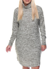 Women - Kim Long Sleeve Turtle Neck Dress (plus)