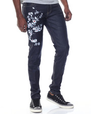 Hudson NYC - Floral Raw Denim Jeans