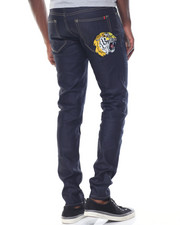 Men - Tiger Flower Raw Denim Jeans