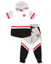 Boys - 2 PC MELANGE JOGGER SET (4-7)