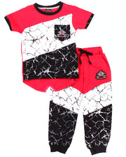 Sets - 2 PC MARBLE JOGGER SET (2T-4T)