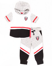 Boys - 2 PC MELANGE JOGGER SET (INFANT)