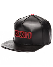 Men - BLACK LEATHER CAP