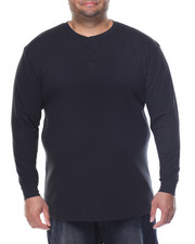 Shirts - Two - Button Thermal Henley (B&T)