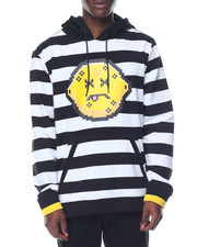 Men - Sour Striped Pullover Hoodie