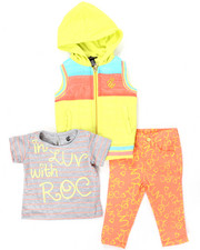 Infant & Newborn - 3 PC SET - HOODED VEST, TEE, AND PRINTED PANTS (INFANT)