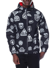Light Jackets - Military Patch Pattern Windbreaker