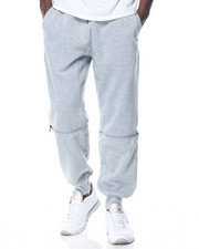 Pants - Metal Zipper Detail Knit Joggers