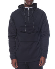 Men - Metal Zipper Detail Pullover Hoodie
