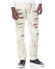 Jeans & Pants - Distress Paint Splatter Denim Jean