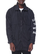 Light Jackets - LOST DETACHABLE HOOD COACH JACKET