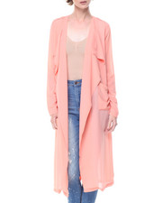 Tops - Draped Front Pocketed Duster
