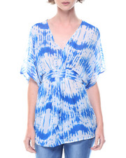 Fashion Tops - Tie Dye Kimono Top