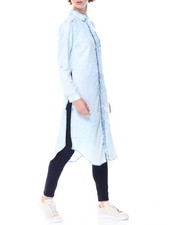 Tops - Acid Wash Denim Duster