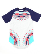 Boys - DASHIKI TEE W/ SCALLOP HEM (4-7)