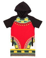Boys - DASHIKI HOODED RAGLAN TEE (4-7)