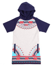 Boys - DASHIKI HOODED RAGLAN TEE (8-20)