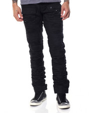Men - Zipper Distressed Denim Jean