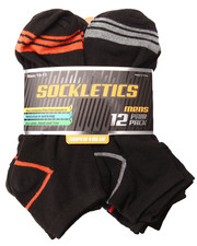 Accessories - Performance  Stripes 12Pk No Show Socks