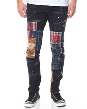 Men - Patchwork Canvas Pant