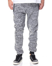Men - Marled Fleece Contrast Jogger