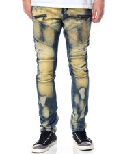 Buyers Picks - Premium Bistre Bleached Moto Jean